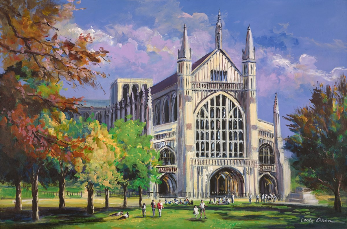Winchester Cathedral by csilla orban -  sized 36x24 inches. Available from Whitewall Galleries
